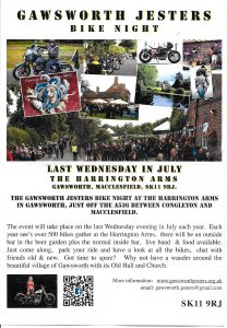 Gawsworth Jesters Bike Night @ The Harrington Arms